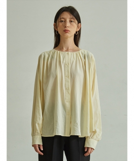 [TMO BY 13MONTH] LONG SLEEVE SHIRRING BLOUSE / ロングスリーブ シャーリングブラウス