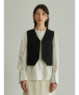 [TMO BY 13MONTH] V-NECK BUTTON VEST / Vネックボタンベスト