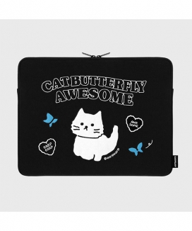[EARPEARP] オーサムキャット(15インチ ノートブックポーチ)  / Awesome cat (15inch notebook pouch)