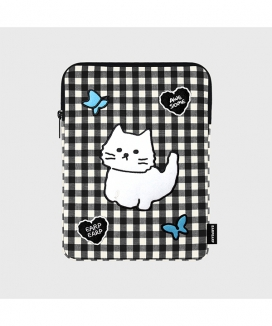 [EARPEARP] チェックオーサムキャット(iPadポーチ) / Awesome cat check(iPad pouch)