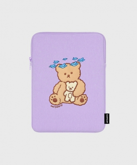 [EARPEARP] ブルーバードベア(iPadポーチ)  / Blue bird bear (iPad pouch)