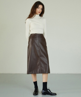 [ANEDIT] レザーポケットスカート / AE_Leather Pocket Skirt