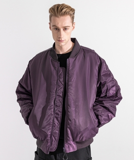 [MASSNOUN] シャーリングオーバーサイズ  MA-1ジャケット / 6OZ SHIRRING OVERSIZED MA-1 JACKET MWZPD002