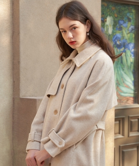 [LETTER FROM MOON] パリジャン ウールトレンチコート / Parisian Wool Trench Coat