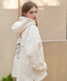 [LETTER FROM MOON] エンジェルタートルネック ナッピングフードパーカー / Angel Turtleneck Napping Hoodie T-shirts