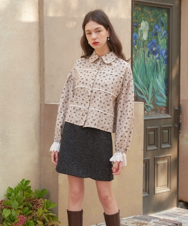 [LETTER FROM MOON] レースinローズ ナッピングブラウス / Lace in Rose Napping Blouse