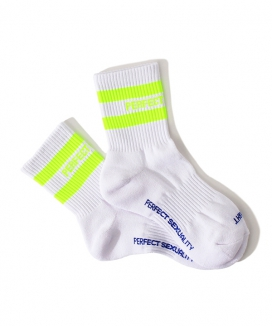 [PERFECTCORNER] 蛍光レフトライトローソックス(FILE) / PERFECT CORNER FLUORESENCE LEFT RIGHT LOW SOCKS(FILE)