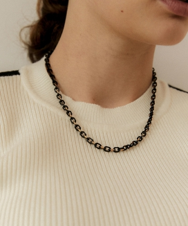 [MIDNIGHT MOMENT] ブラックチェーンネックレス / black chain necklace
