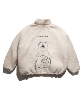 [PIECEMAKER] ボアポーラベア パディッドジャケット[EZwithPIECE] / [EZwithPIECE] BOA POLAR BEAR PADDED JACKET