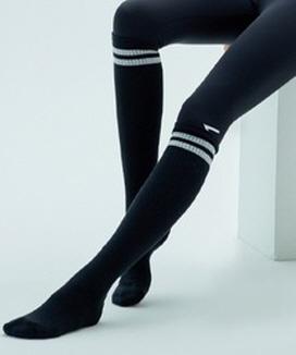 [CIENNA] 2ライン リブオーバーニーソックス / 2line over knee socks