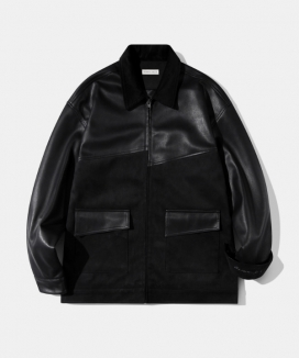 [Diamond Layla] ブレンディング レザースエードジャケット(J16) / Layla The reason for love Blending Leather Suede Jacket J16