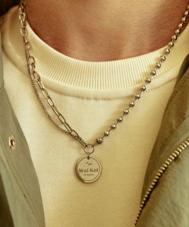 [WaiKei] Hiステディチェーン ミックスネックレス / Hi Steady chain mix Necklace