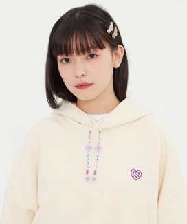 [TARGETTO] ビーズクロップフーディ / BEADS CROP HOODIE