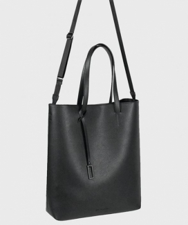 [MIM the wardrobe] ソリッドレザー クロストートバッグ / Solid Leather Cross-Tote Bag