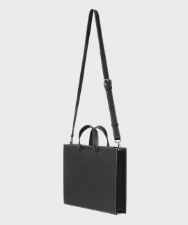 [MIM the wardrobe] レクタングルステッチレザー クロストートバッグ / RECTANGLE Stitch Leather Cross Tote Bag