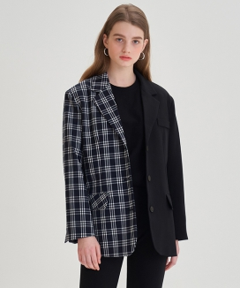 [LETTER FROM MOON] ハーフチェックブレザー / Half Check Blazer