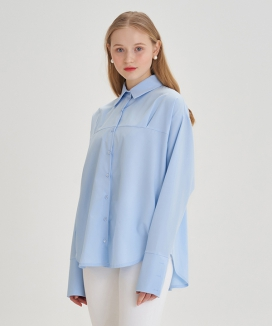 [LETTER FROM MOON] ロイヤルピンタック シャツブラウス / Loayl Pintuck Shirts Blouse