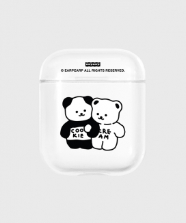 [EARPEARP] クッキークリーム airpodsケース(クリア) / Cookie cream(clear Air pods)