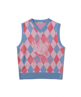 [5252 by oioi] ELEアーガイルニットベスト / ELE ARGYLE KNIT VEST