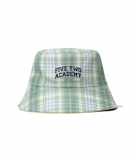 [5252 by oioi] FIVETWOチェックバケットハット / FIVETWO CHECK BUCKET HAT