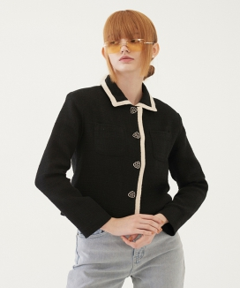 [TMO BY 13MONTH] クロップツイードジャケット / CROPPED TWEED JACKET