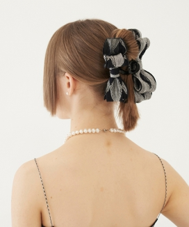 [TMO BY 13MONTH] リボンヘアクリップ / RIBBON HAIR CLIP