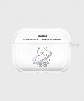 [EARPEARP] トゥインクルジェムベア airpods proケース(クリア) / Twinkle gem bear-clear(clear air pods pro)