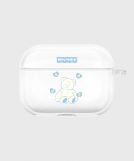 [EARPEARP] ソフトベア airpods proケース(クリア) / Soft bear-clear(clear air pods pro)