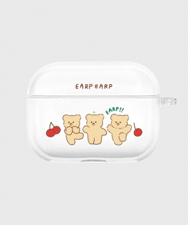 [EARPEARP] チェリーニニ airpods proケース(クリア) / Cherry nini-clear(clear air pods pro)