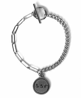 [S SY] SSYペンダントリンク チェーンブレスレット / S SY PENDANT LINK CHAIN BRACELET