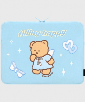 [EARPEARP] フィリングハッピーメリー(15インチ ノートブックポーチ)  / FILLING HAPPY MERRY (15inch notebook pouch)