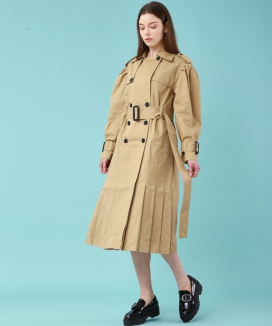 [WunderGeist] パフスリーブ トレンチワンピース1 / WunderGeist Puff Sleeve Trench OPS 1