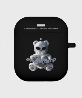 [EARPEARP] スペースナイト スチールベア(airpods / pro ソフトケース) / SPACE NIGHT STEEL BEAR(airpods / pro jelly case)