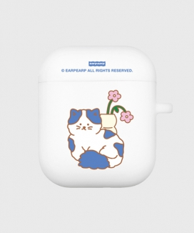 [EARPEARP] フラワーキャット(airpods / pro ソフトケース) / FLOWER CAT(airpods / pro jelly case)