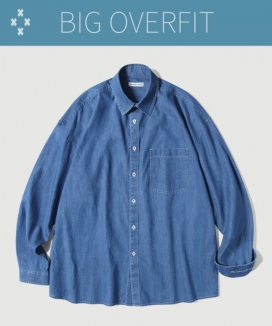 [Diamond Layla] ガーメントウォッシングデニムシャツ S82 / Garment Washing Denim Shirt S82