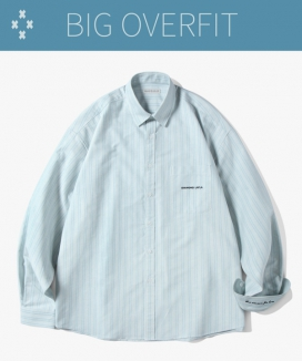 [Diamond Layla] アイランドオックスフォード ストライプシャツ S86 / Island Oxford Stripe Shirt S86