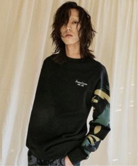 [JORENZ CARTIESS] ルーズフィット カモフラージュスウェットシャツ / Loose fit camouflage sweatshirt