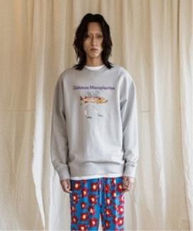 [JORENZ CARTIESS] オーバーサイズフィット グラフィックスウェットシャツ(グレー) / Oversized Fit Gray Graphic Sweatshirt