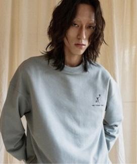 [JORENZ CARTIESS] オーバーサイズフィット グラフィックバードスウェットシャツ / Oversized Fit Graphic Bird Gray Sweatshirt