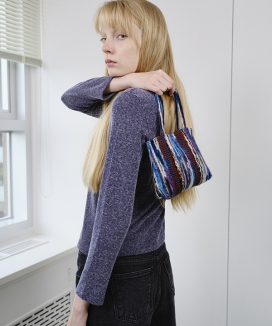 [ENZO BLUES] タイニーニットトートバッグ / Tiny knit Tote Bag