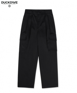 [DUCKDIVE] ボタンテーパード カーゴパンツ / BUTTON TAPERED CARGO PANTS