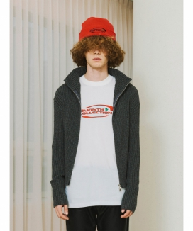 [13month] ハイネックジップアップセーター / HIGH NECK ZIP UP SWEATER