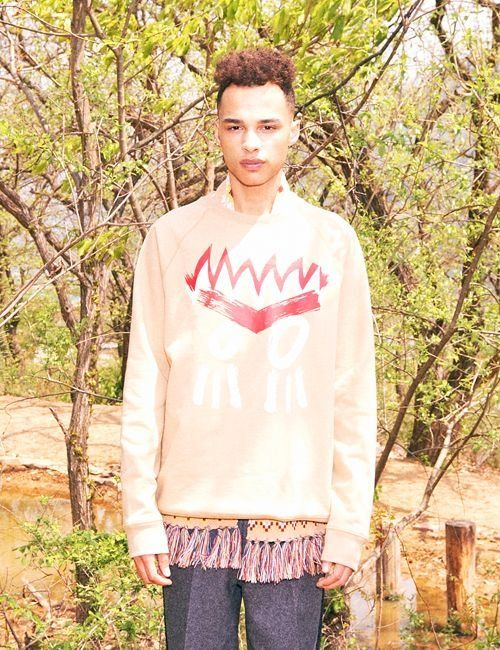 [FREIKNOCK] INDIAN FACE SWEATSHIRT