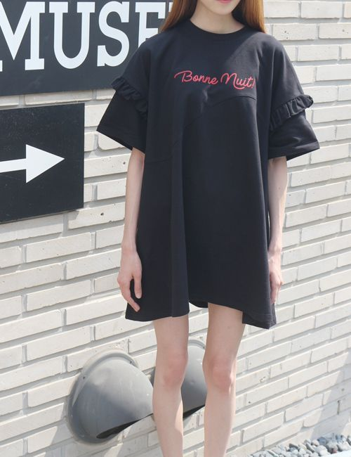 [HOMMMIE] ボンヌ・ヌット Tシャツワンピース
