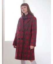 [TARGETTO] FOUR POCKET CHECK COAT