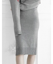 [ulkin] UL:KIN COLLECTION LABEL_BASIC KNIT LONG SKIRT