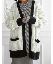 [ulkin] UL:KIN COLLECTION LABEL_WAFFLE STITCH KNIT CARDIGAN