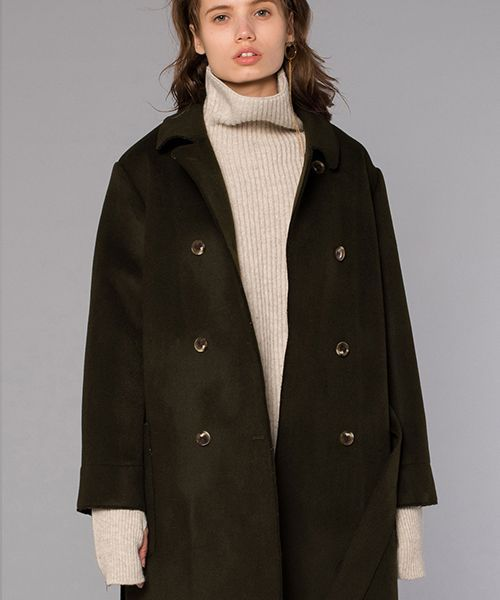 [DIAGONAL] DOUBLE BUTTON COAT