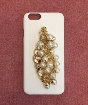 [MIDNIGHT MOMENT] pearl gold chain case