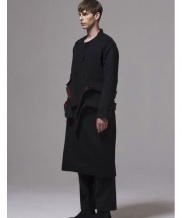[BY D BY] two belt five button long coat